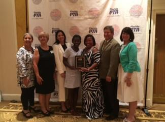 Ms. Payne is recognized as Florida's PTA Secondary Schools Principal of the  Year!